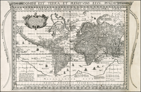 World and World Map By J. Battista Cavazza