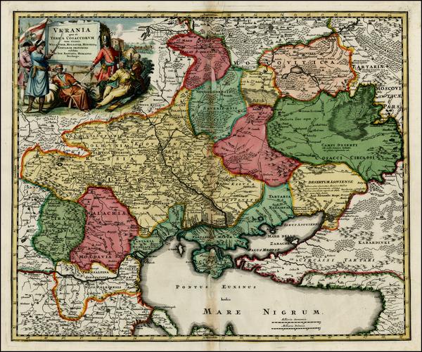 64-Russia, Ukraine, Romania and Balkans Map By Johann Baptist Homann