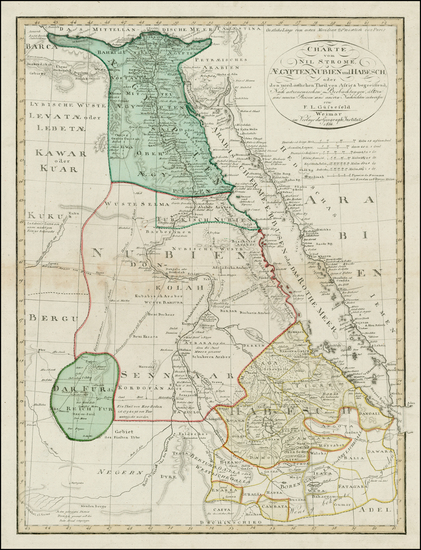 27-Egypt and North Africa Map By Franz Ludwig Gussefeld
