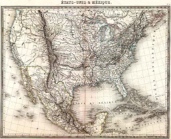 70-United States, Texas and Midwest Map By J. Th. Thuot-Duvotenay