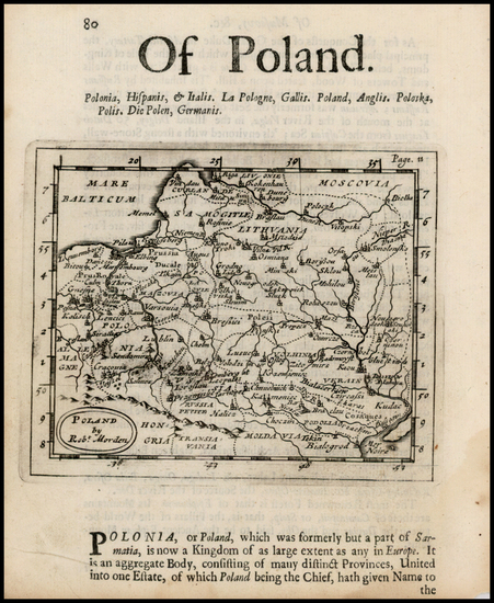 35-Poland, Ukraine and Baltic Countries Map By Robert Morden