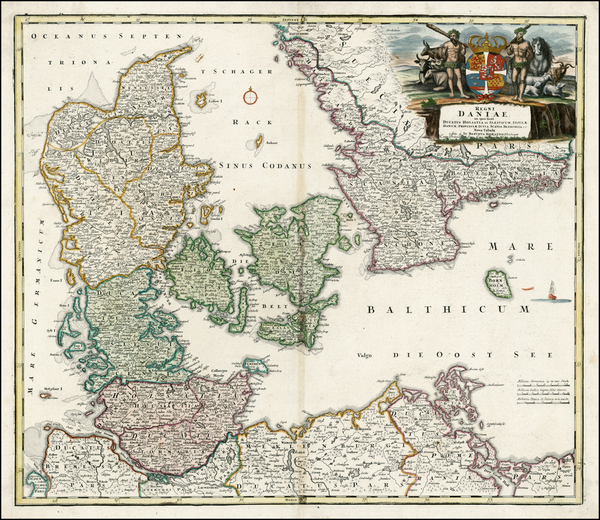 20-Germany and Scandinavia Map By Johann Baptist Homann