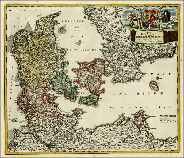 66-Germany and Scandinavia Map By Johann Baptist Homann
