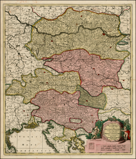 0-Austria, Balkans and Italy Map By Gerard Valk