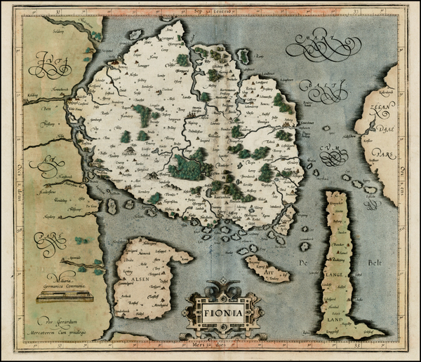 5-Scandinavia Map By Gerard Mercator