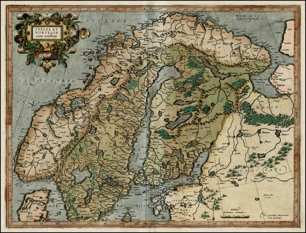 82-Scandinavia Map By Gerhard Mercator