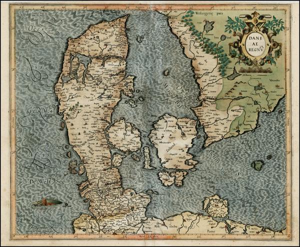 61-Scandinavia Map By Gerard Mercator
