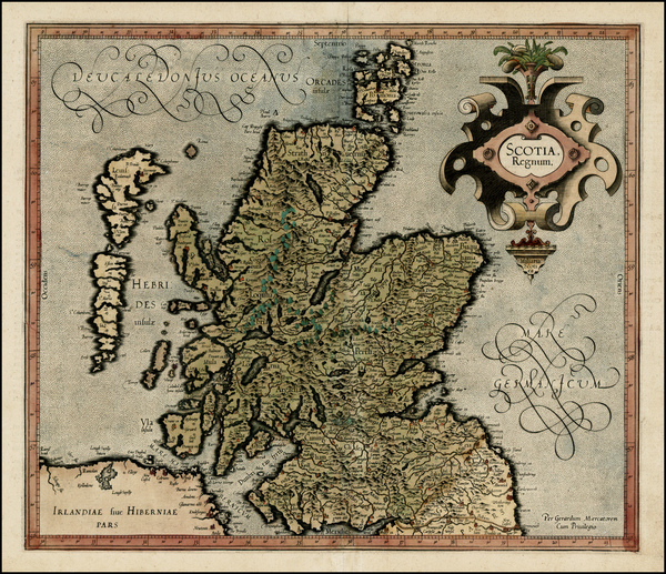 70-Scotland Map By Gerhard Mercator