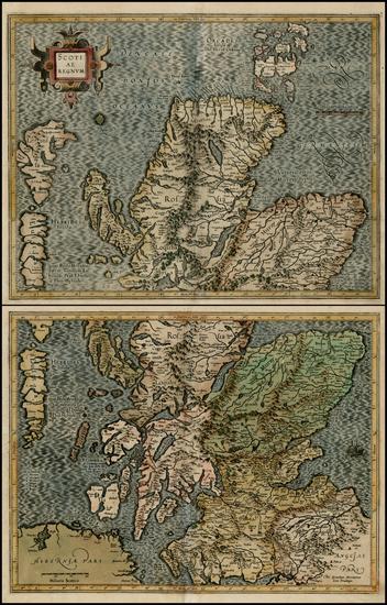 21-Scotland Map By Gerhard Mercator