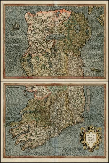 87-Ireland Map By Gerhard Mercator