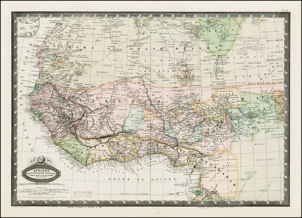 77-North Africa, West Africa and African Islands, including Madagascar Map By F.A. Garnier