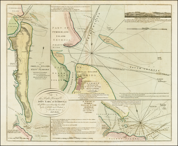 85-Florida and Southeast Map By Thomas Jefferys