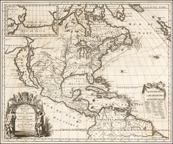 70-Midwest and North America Map By Louis de Hennepin