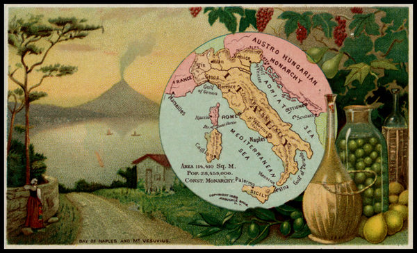 44-Italy Map By Arbuckle Brothers Coffee Co.