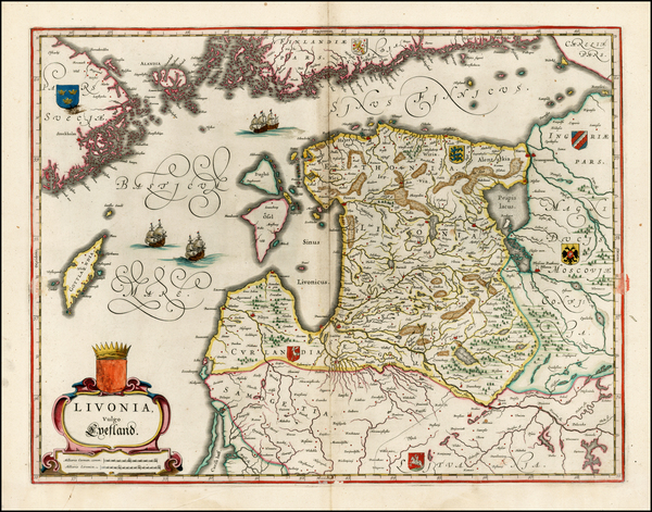 13-Poland, Russia, Baltic Countries and Scandinavia Map By Willem Janszoon Blaeu