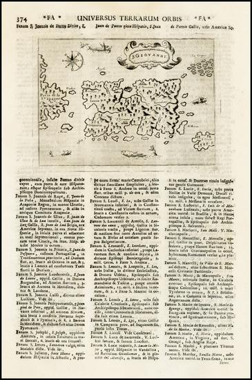 42-Caribbean Map By Alphonsus Lasor a Varea