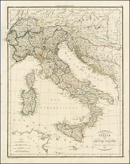 14-Balkans, Italy and Balearic Islands Map By Alexandre Emile Lapie