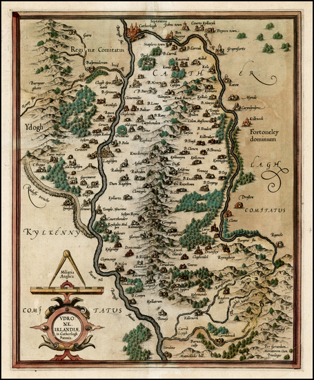 85-Ireland Map By  Gerard Mercator