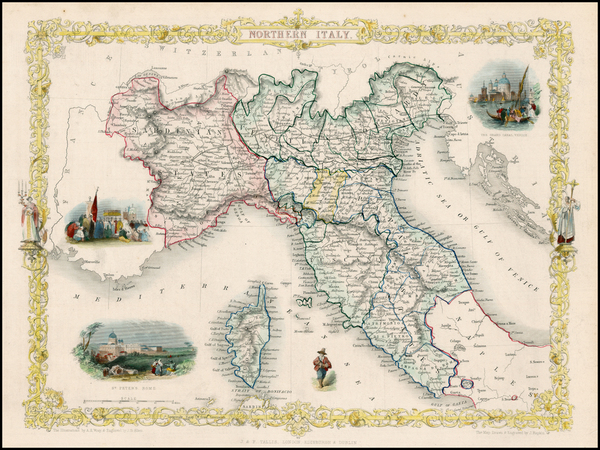 8-Italy, Mediterranean and Balearic Islands Map By John Tallis