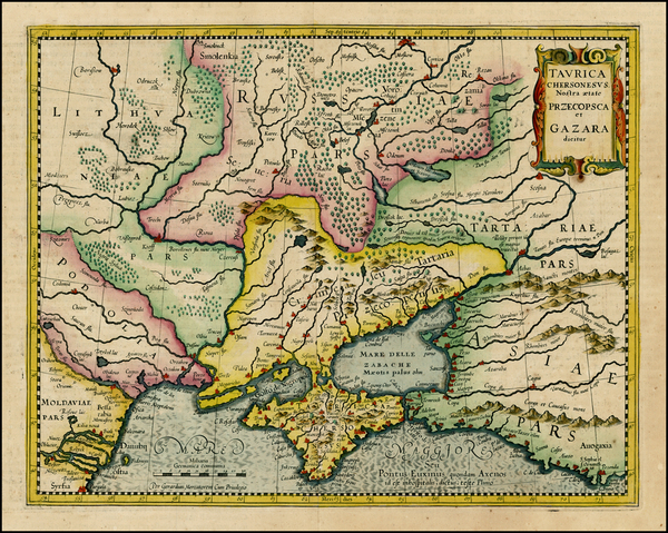 70-Russia, Ukraine, Central Asia & Caucasus and Russia in Asia Map By Gerhard Mercator