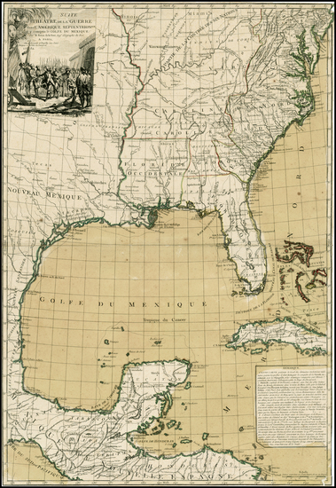 14-United States, Mid-Atlantic, South, Southeast, Texas and Midwest Map By Louis Brion de la Tour