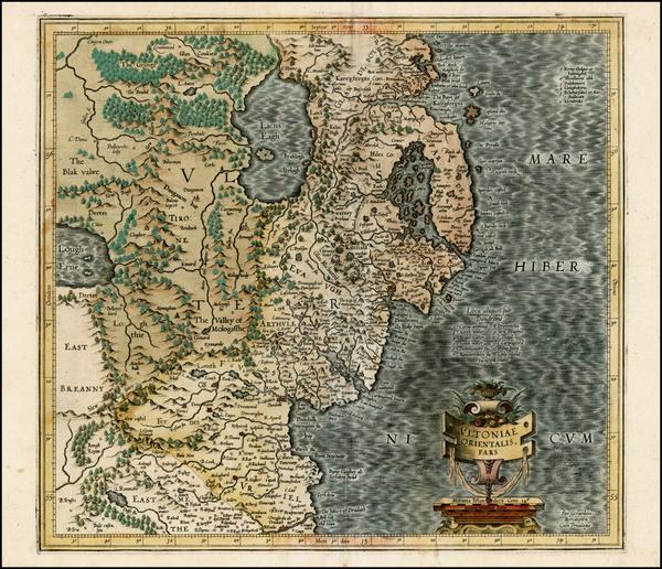 30-Ireland Map By  Gerard Mercator