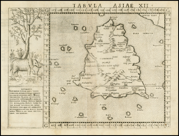 18-India and Other Islands Map By Girolamo Ruscelli