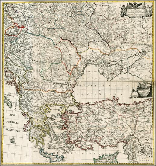 49-Poland, Russia, Ukraine, Romania, Baltic Countries and Balkans Map By Johann Gottlieb Facius /