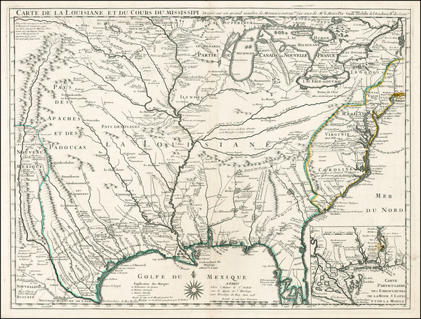 86-South, Southeast, Texas, Midwest, Plains, Southwest and Rocky Mountains Map By Guillaume De L'I