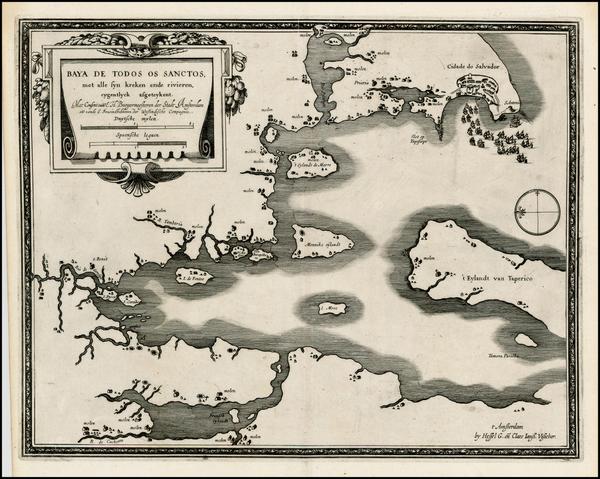 93-Brazil Map By Hessel Gerritsz - Claes Janszoon Visscher