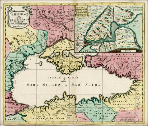 48-Ukraine, Balkans, Turkey and Turkey & Asia Minor Map By Matthaus Seutter