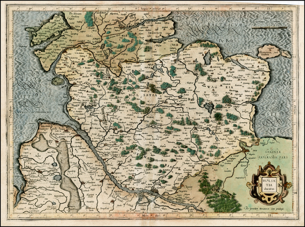 89-Germany Map By  Gerard Mercator