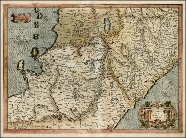11-Italy Map By  Gerard Mercator