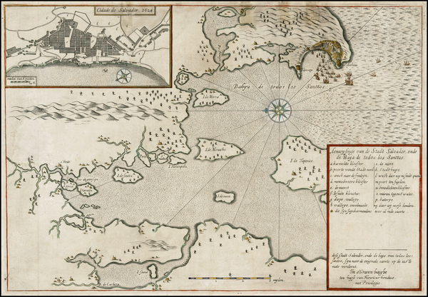 71-Brazil Map By Henricus Hondius