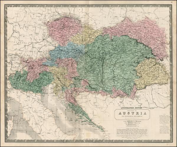 48-Austria, Poland, Hungary, Czech Republic & Slovakia and Balkans Map By W. & A.K. Johnst
