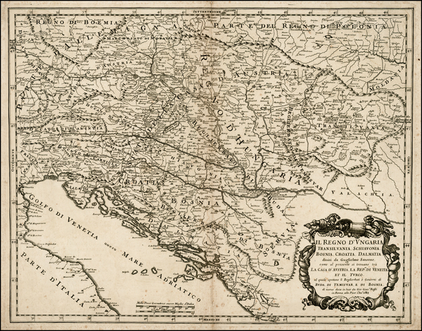 52-Hungary, Balkans and Croatia & Slovenia Map By Giacomo Giovanni Rossi