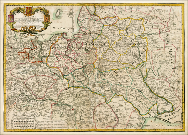 92-Poland, Ukraine and Baltic Countries Map By Maurille Antoine Moithey