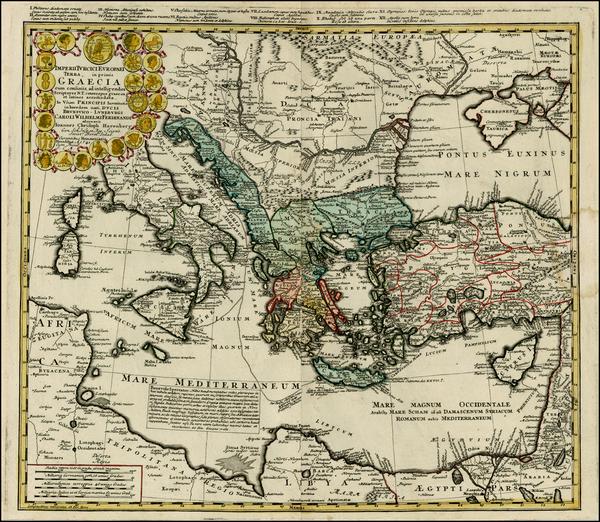 51-Ukraine, Italy, Turkey, Mediterranean, Balearic Islands and Turkey & Asia Minor Map By Homa