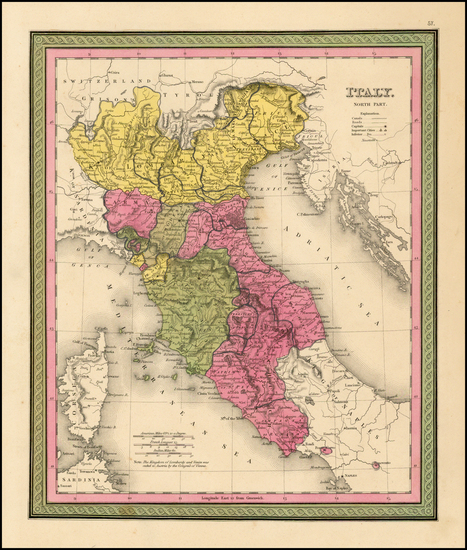 88-Italy Map By Henry Schenk Tanner