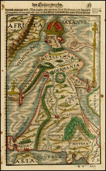 33-Europe Map By Sebastian Munster
