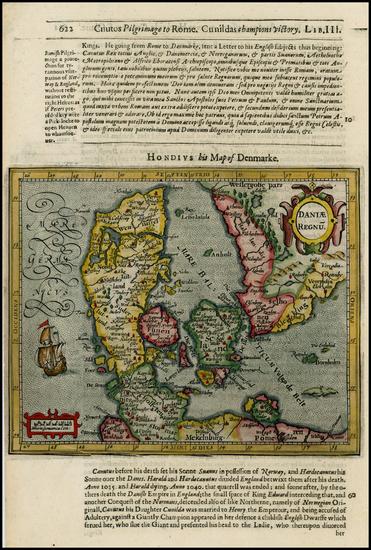 50-Germany and Scandinavia Map By Jodocus Hondius / Samuel Purchas
