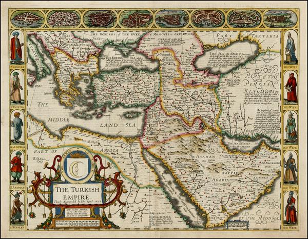 16-Russia, Ukraine, Turkey, Mediterranean, Middle East and Turkey & Asia Minor Map By John Spe