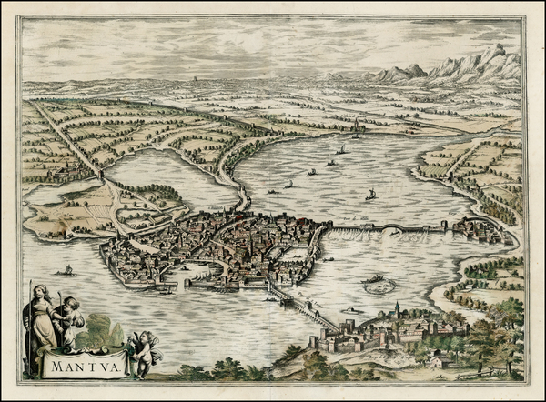 42-Northern Italy and Other Italian Cities Map By Frederick De Wit