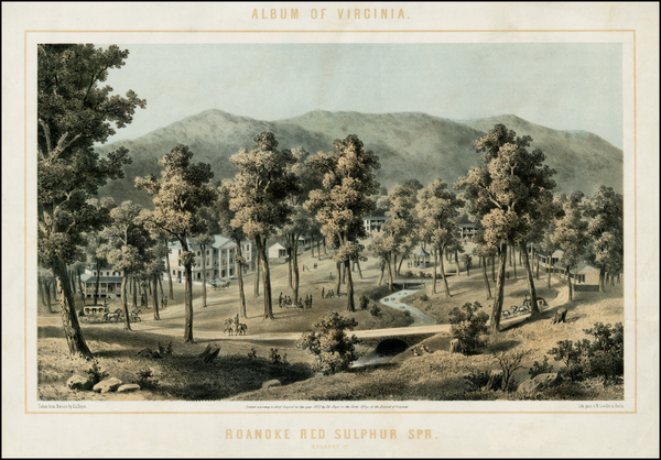 53-Virginia Map By Edward Beyer