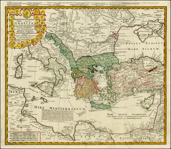 18-Ukraine, Italy, Turkey, Mediterranean, Balearic Islands and Turkey & Asia Minor Map By Homa
