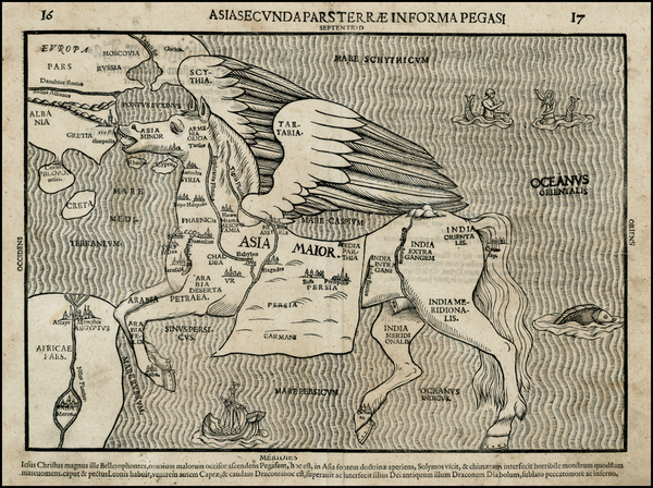 31-Asia, Asia, China, Southeast Asia, Curiosities and Comic & Anthropomorphic Map By Heinrich