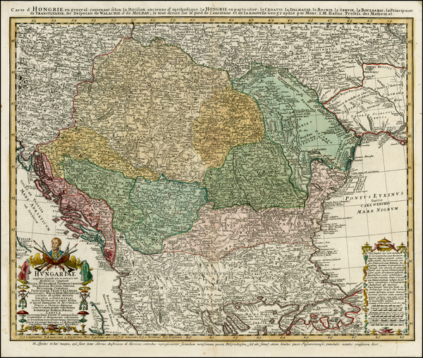 9-Poland, Ukraine, Hungary, Balkans and Turkey Map By Homann Heirs / Johann Matthaus Haas