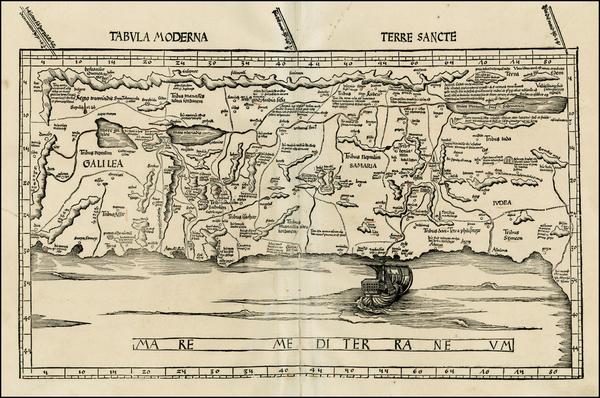 11-Holy Land Map By Martin Waldseemüller