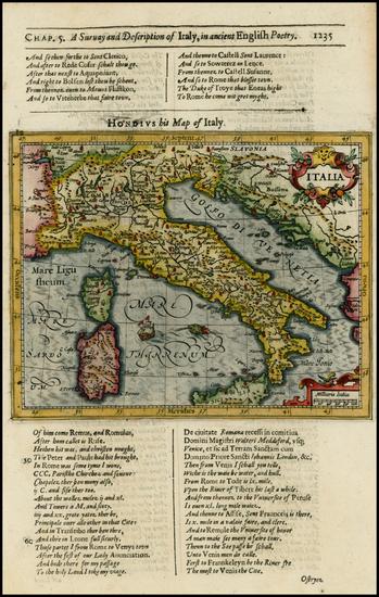 94-Italy Map By Jodocus Hondius / Samuel Purchas