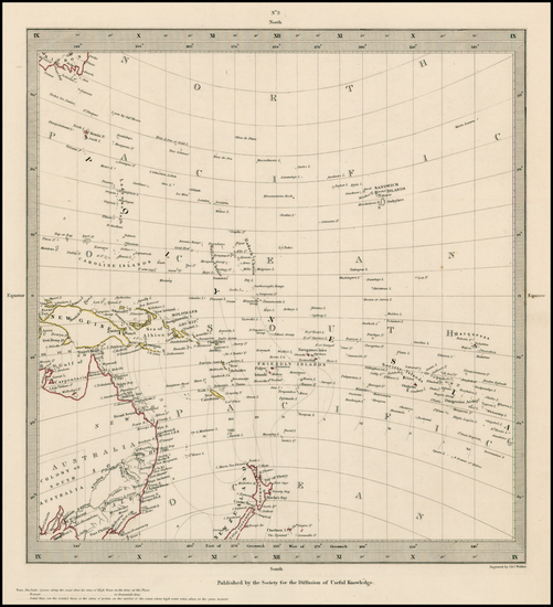 87-Hawaii, Australia, Oceania, New Zealand, Hawaii and Other Pacific Islands Map By SDUK